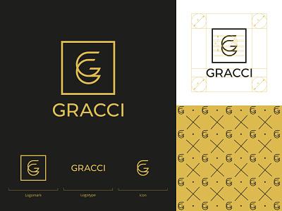 GRACCI chocolate packaging chocolate bar chocolate monorgam gg pattern logodesign mark brand identity brand design logotype branding vector design logo