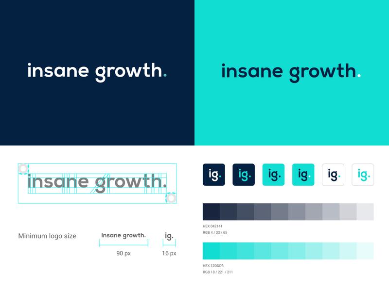 insanegrowth stationery logodesign mark brand identity brand design logotype branding vector design logo