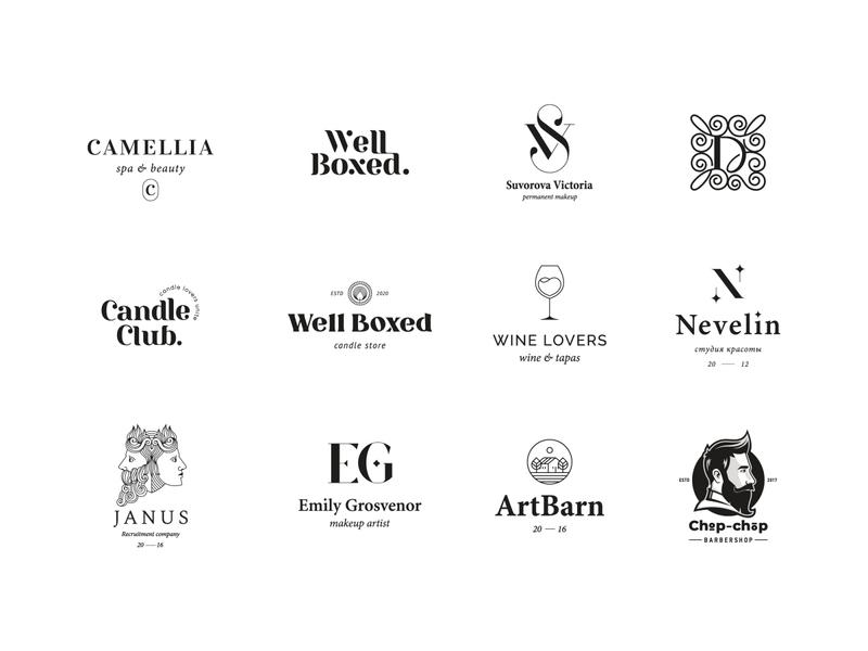 Logo collection awesome logo logoawesome logoflow logocollection logofolio typography logodesign mark brand identity brand design logotype branding vector design logo