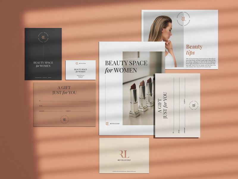 REVELUXXE beauty salon beauty logo beauty product monogram rl beauty typography logodesign mark brand identity brand design logotype branding vector design logo