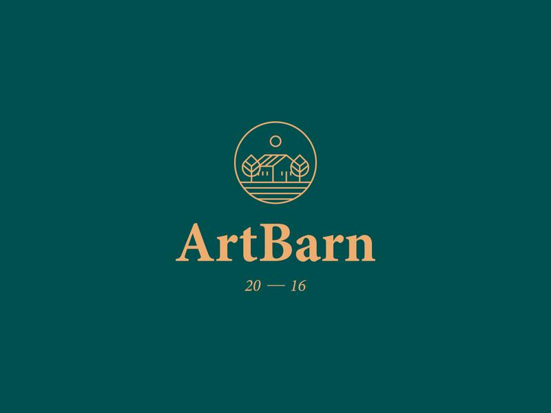 ArtBarn landscape nature treehouse trees construction building house brand logodesign mark brand identity brand design logotype branding vector design logo