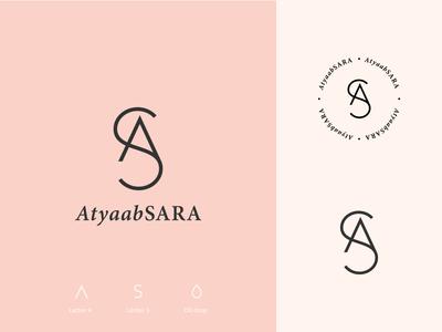 AtyaabSara monogram as perfume bottle perfumery perfumes perfume beauty typography logodesign brand identity brand design mark logotype branding vector design logo