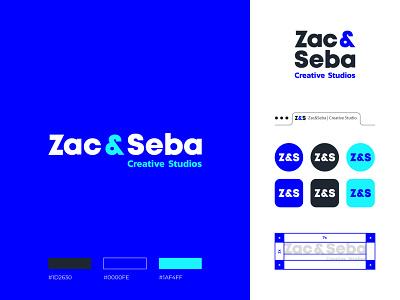 Zac & Seba typography logodesign brand identity brand design mark logotype branding vector design logo