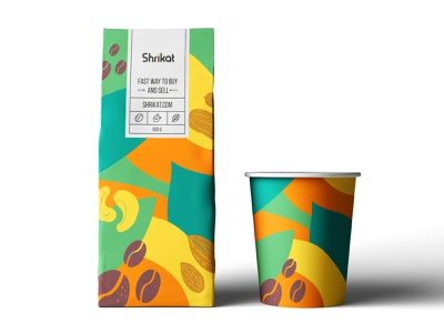 Shrikat packaging organic food organic illustration pattern nuts package coffee packing packaging design package design packaging package typography logodesign brand identity brand design mark logotype branding vector design logo