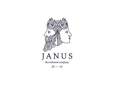 Janus janus god mythology myth branding design brand typography logodesign mark logotype brand identity brand design branding vector design logo
