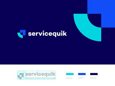 servicequik logo design icon branding design business saas identity brand typography logodesign mark logotype brand identity brand design branding vector design logo