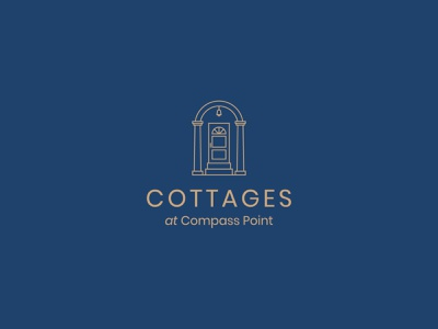 Cottages at Compass Point identity designer identity design branding design door house cottage identity brand typography logodesign mark logotype brand identity brand design branding vector design logo