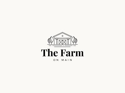 The Farm on Main wedding venue wedding trees rustic logo rustic nature cottage house farm barn brand typography logodesign mark brand design brand identity branding vector design logo