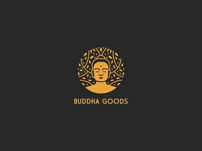 Budha goods buddha logo leaves logo tree organic superfood blends superfood natural food natural buddha typography logodesign logotype mark brand identity brand design branding vector design logo