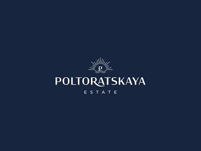Poltoratskaya stationery set typography logo businesscard folder sea estate realestate stationery design stationery typography logodesign logotype brand identity mark brand design branding vector design logo