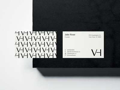 Venue House identitydesign business card design businesscard logoidea logoinspire pattern monogram logo monogram stationery design stationery typography logodesign logotype brand identity mark brand design branding vector design logo