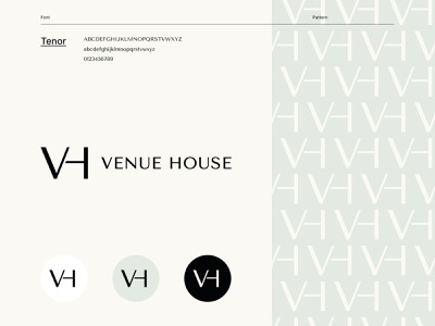 Venue House identitydesign business card design businesscard logoidea logoinspire pattern monogram logo monogram stationery design stationery typography logodesign logotype brand identity mark brand design branding vector design logo