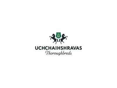 Uchchaihshravas Thoroughbreds business card crest coat of arms horse logotype stationery design brand identity mark brand design branding vector design logo