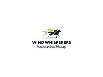 Wind Whisperers Thoroughbred Racing stationery design stationery pattern racing operations horse thoroughbred racing thoroughbred illustration brand identity mark brand design branding vector design logo