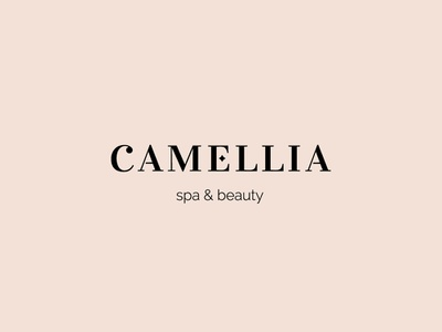 Camellia relax beauty salon beauty spa design vector logo