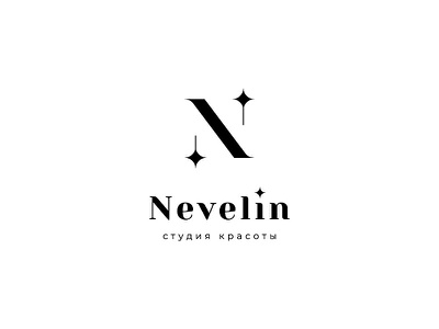 Nevelin beauty salon beauty vector design logo
