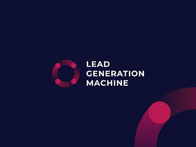 LEAD GENERATION MACHINE lead machine rotation branding vector design logo