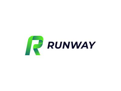 Runway runway letter r branding vector design logo