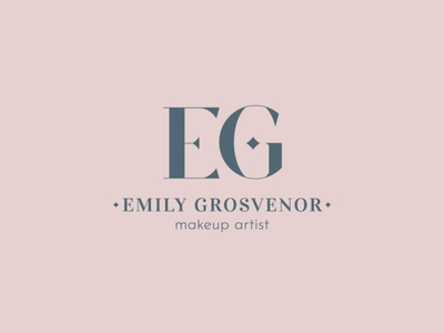 EG monogram makeup artist makeup eg beauty branding vector design logo