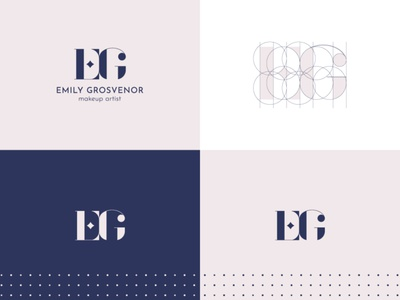 Emily Grosvenor typography monogram pattern beauty salon beauty branding vector design logo