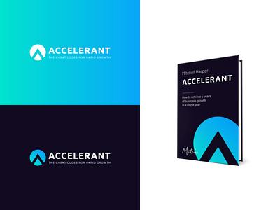 Accelerant lettera logotype design vector logo