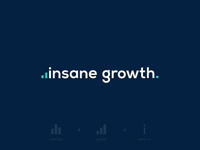 Insane growth logotype smart development finances finance charts chart growth brand identity brand design typography branding vector design logo