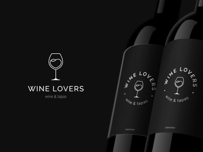 Wine lovers wine label glass bar bottle wine logodesign mark typography brand identity brand design logotype branding vector design logo