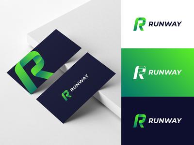 Runway fast runway run r letter corporate identity businesscard logodesign mark brand identity brand design logotype branding vector design logo