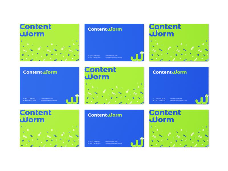 ContentWorm wormlogo worm businesscard pattern logodesign typography mark brand identity brand design logotype branding vector design logo