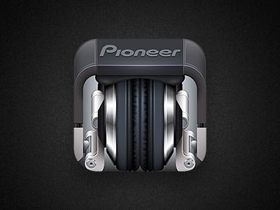HDJ-2000 Icon hdj-2000 dj headphones pioneer ios icon illustrator making-of
