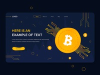 Bitcoin Website Design Template