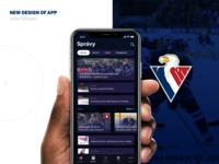 Concept of mobile app for HC Slovan Bratislava
