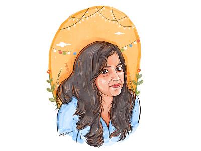Digital Portrait digital drawing art