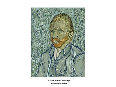 Loving Vincent vangogh drawing digital dribbbleshot illustration