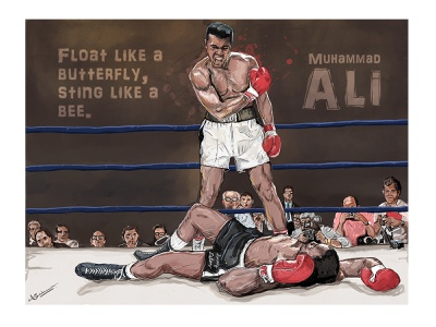 Muhammad Ali fight art scribble legend ali boxing muhammad ali dribbbleshot drawing digital illustration