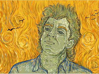 When Van Gogh meets Raguvaran digitalart art dribbbleshot drawing character digital illustration