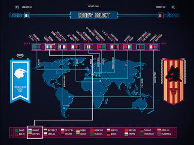 "Infographic pixel design for Fefè #12 ""I Hate You"" infographic fefe12 visual design football derby world map pixel art pixel"