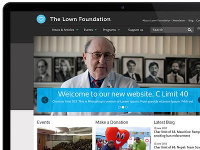 The Lown Foundation website ui ux pixel healt foundation no-profit desktop wireframe
