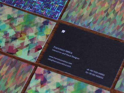 Francesco Vetica Business Card business-card logo personal-identity designer corporate-identity visual-design texture pattern moo