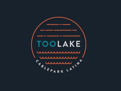 TooLake - Cablepark Latina logo brand branding wakeboard wake toolake surf surfing icon lake cablepark extreme