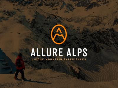 Allure Alps zermatt cervinia logo tour operator allure alps allure dmc travel ski snowboard mountain brand