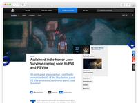 Inside Playstation - redesign sonyplaystation.com