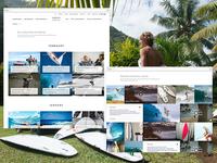 Stories and socials wall - Euroglass surfboards