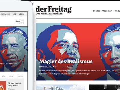 Redesign derFreitag online experience typography ui magazine article news responsive ux
