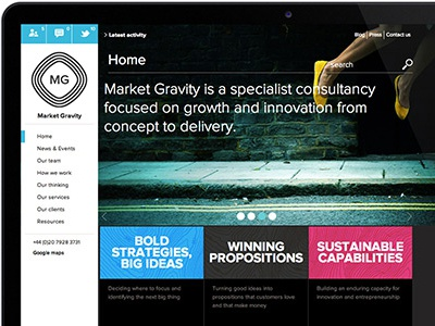 Market Gravity Website web web-design user-interface ui user-experience mobile module-design