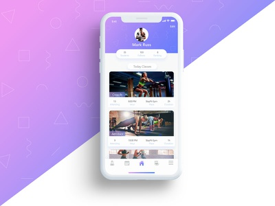 Fitness App Concept 1/30 clean design interface iphone x mobile ux ui fitness app