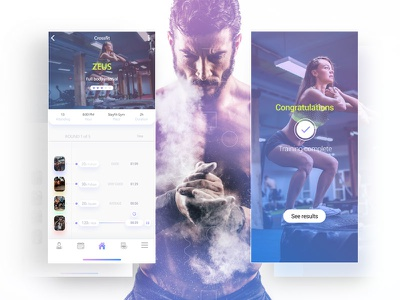Training program 3/30 clean design interface iphone x mobile ux ui fitness app