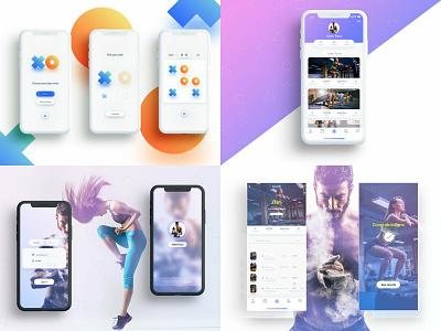 2018 user interface design ux interface clean ui illustration app mobile