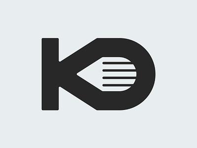 KD + Pencil for Kieron Designs grey monogram designs lettering pencil kd logo