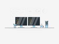 Developer Job Advert Illustration